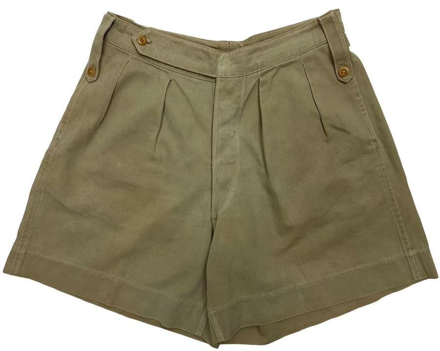 Original WW2 RAF Officers Khaki Drill Shorts - V. C. Jordan