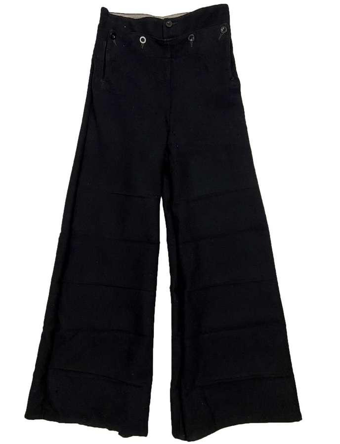 Original WW2 Royal Navy Bell Bottom Serge Trousers