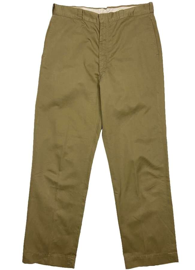 Original 1969 Dated US Army Chinos Trousers - 36x33