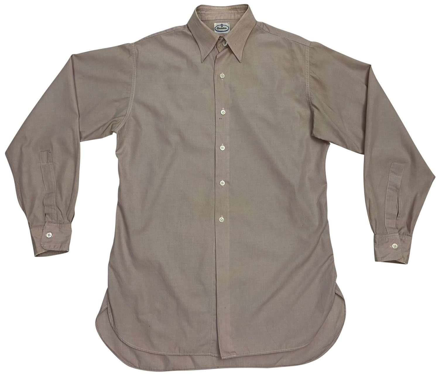 Original Early 1950s British Collared Shirt by 'Consulate'