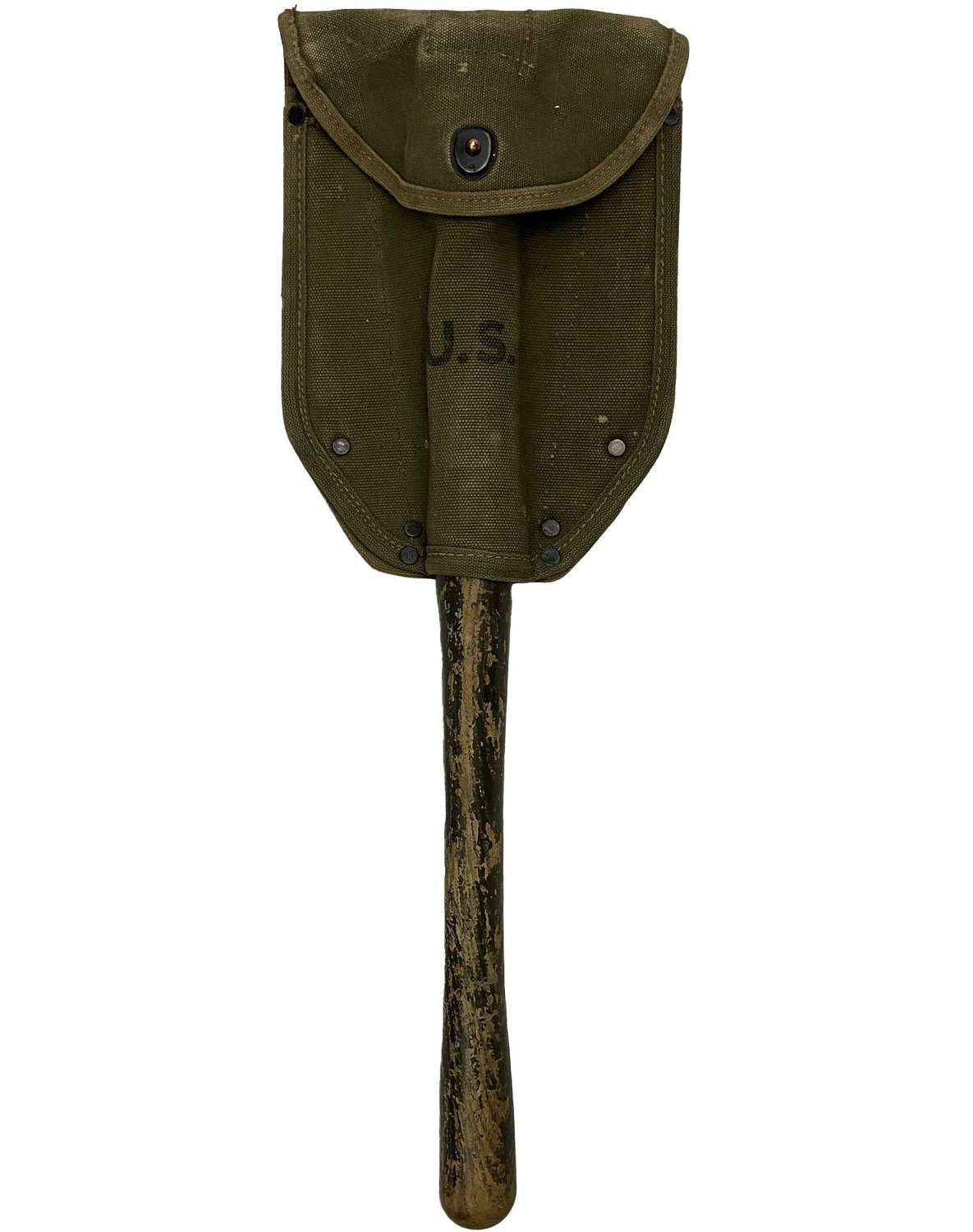 Original 1944 Dated US Army M1943 Shovel Cover and Spade