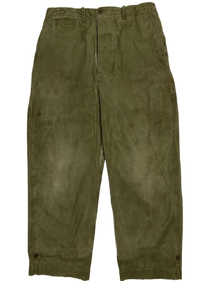 Original 1950s Norwegian M1943 Combat Trousers