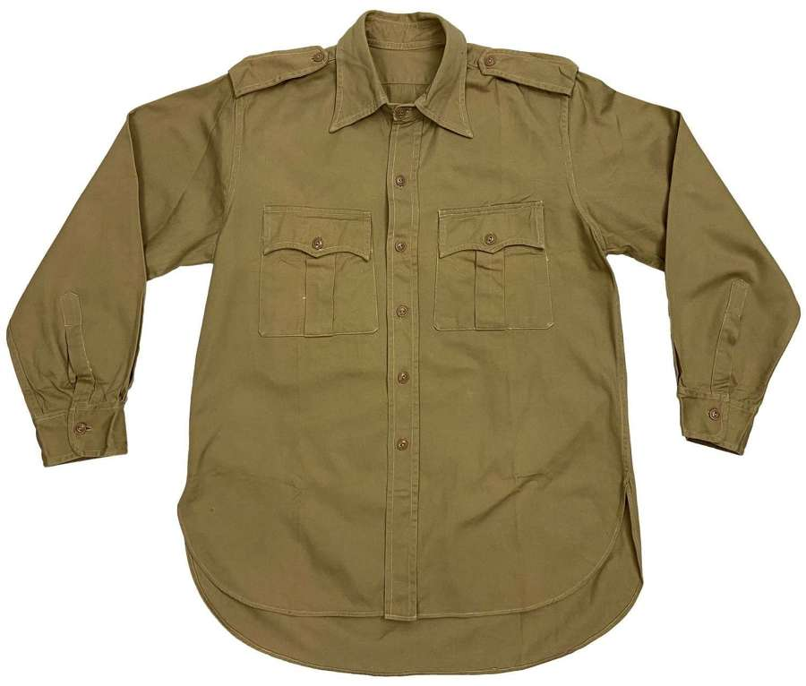 Original 1950s Khaki Cotton Drill Shirt