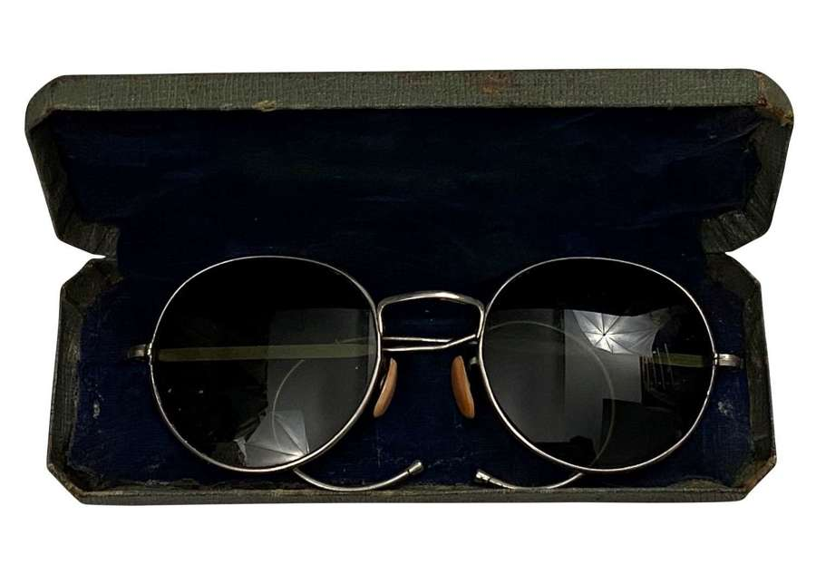 Original RAF MK VIII / Type F Anti Glare Spectacles + Box