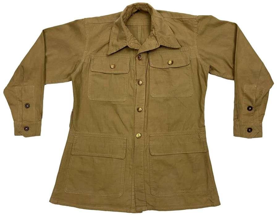 Original 1945 Dated RAF Aertex Bush Jacket - Size No. 2