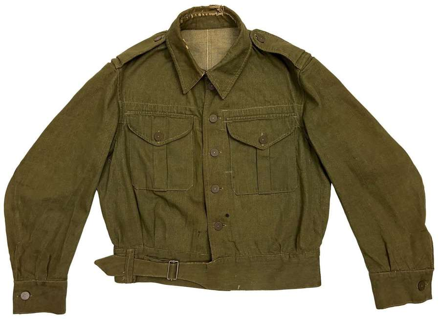 Original Early WW2 First Pattern British Army Denim Battledress Blouse