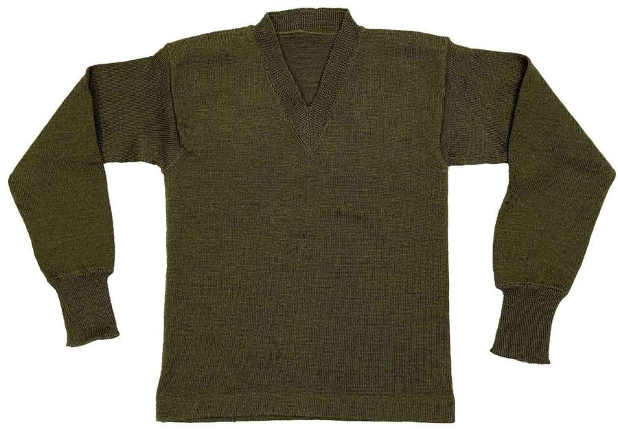 Original 1951 Dated British Army V - Neck Jumper - Size 2
