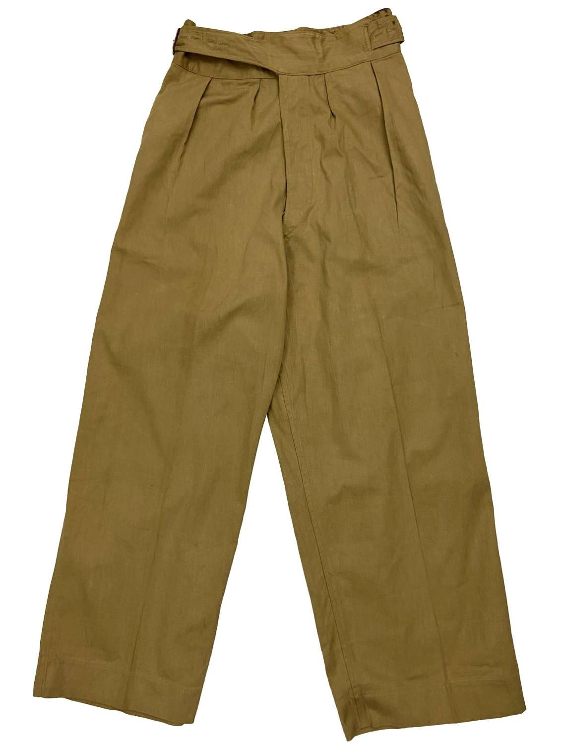 Original 1945 Dated Indian Made British Khaki Drill Trousers