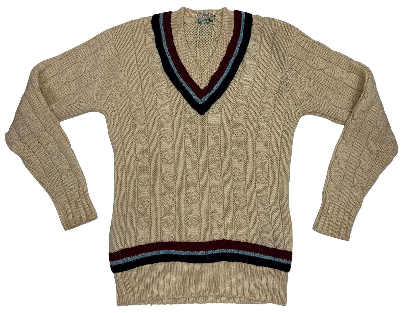 Original 1960s British Cricket Jumper 'Lillywhites' - RAF Colours