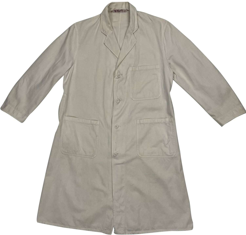 Original 1940s White Laboratory Coat by 'C.W.S'