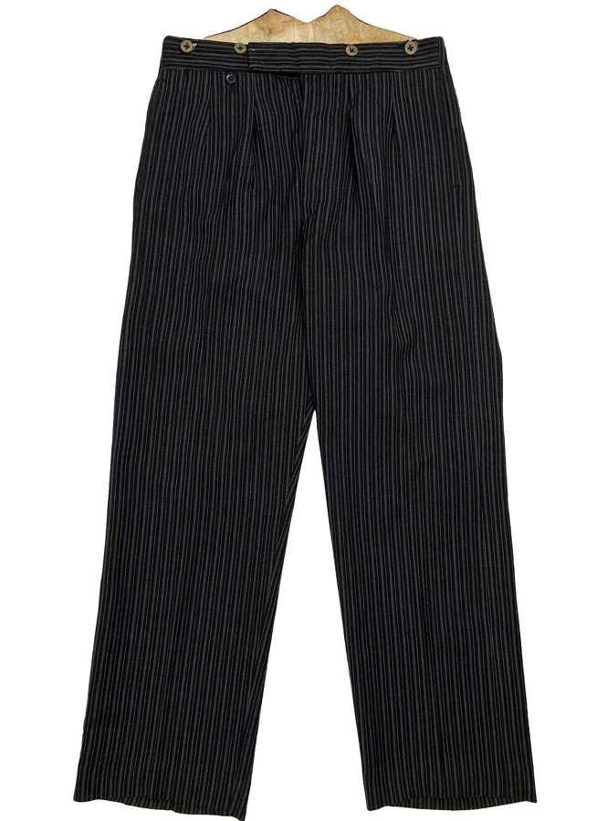 Original 1930s British Men's Striped Morning Trousers by 'P. Ltd'