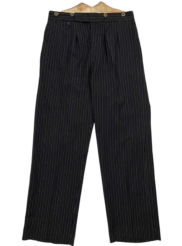 Original 1930s British Men's Striped Morning Trousers by 'P. Ltd'
