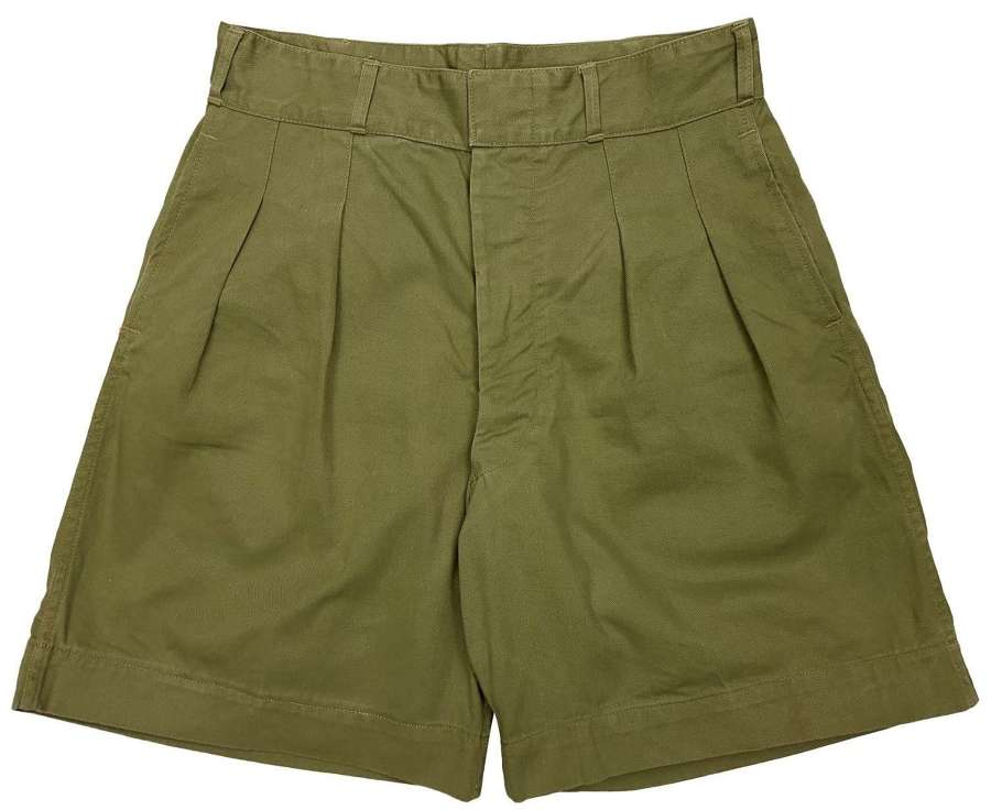 Original 1946 Dated Canadian Khaki Drill Shorts