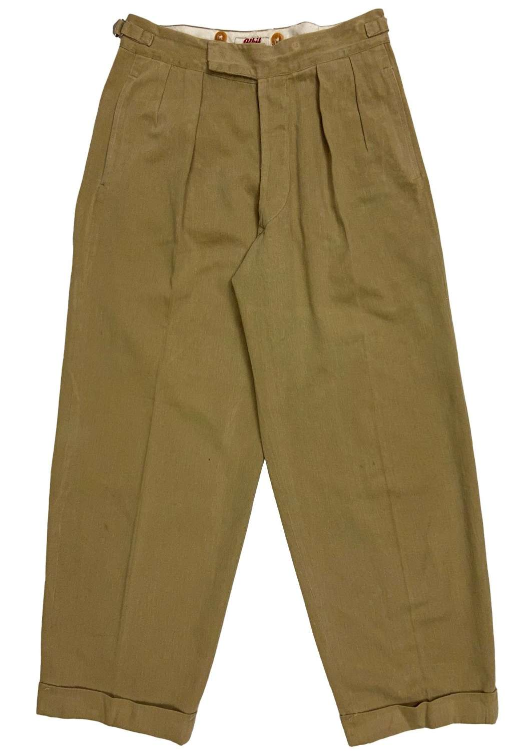 Original 1940s British Army Officers Khaki Drill Trousers by 'Alkit'