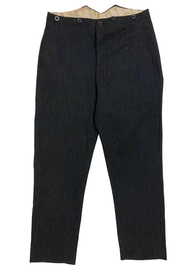 Original Edwardian Men's Striped Morning Trousers