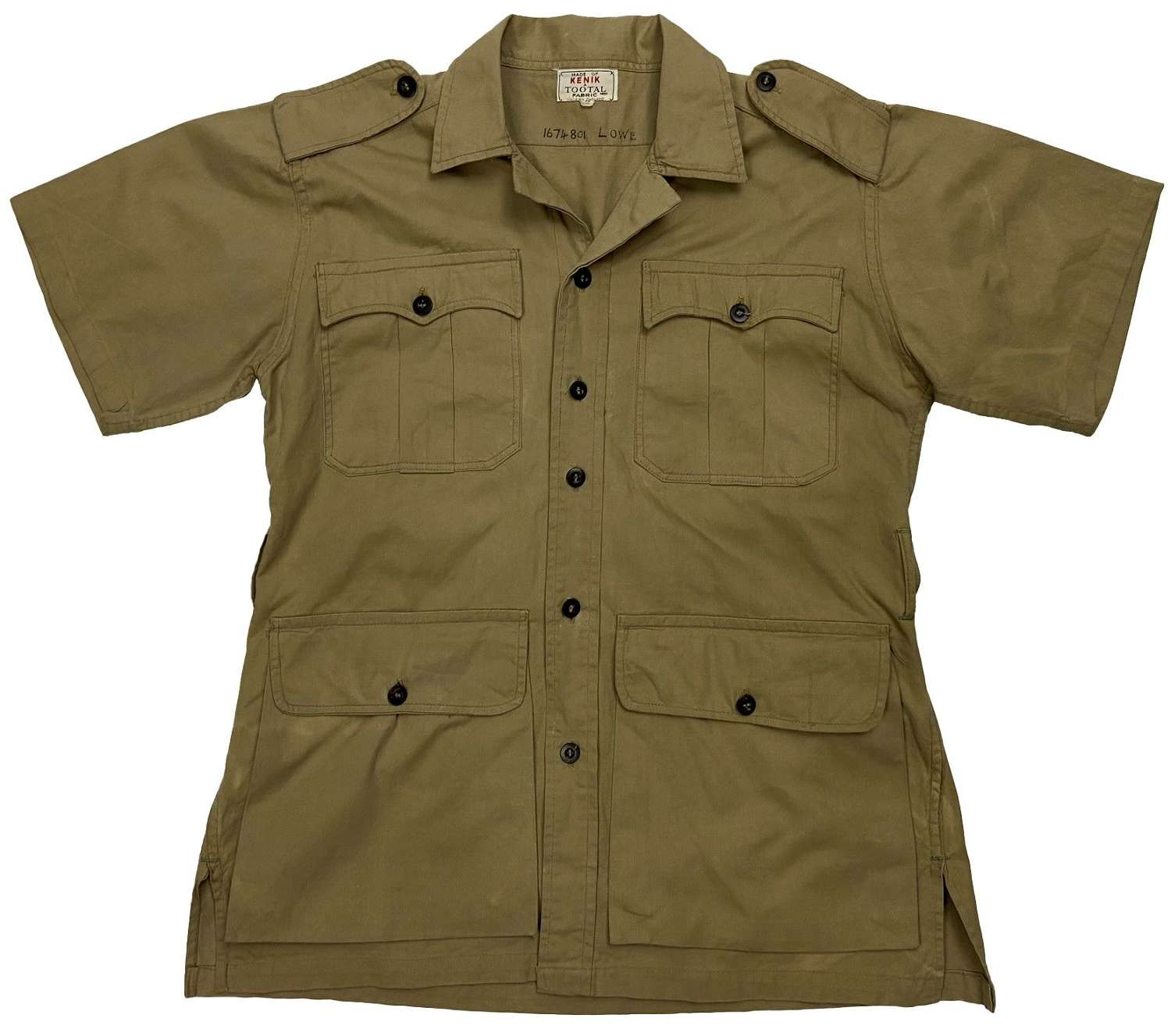Original 1950s Private Purchase Khaki Drill Bush Jacket by 'Tootal'
