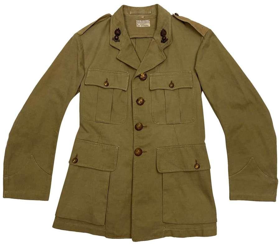 Original WW2 Royal Engineer Officers Khaki Drill Tunic
