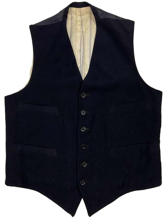 Original 1940s Navy Blue Six Button Men's Waistcoat