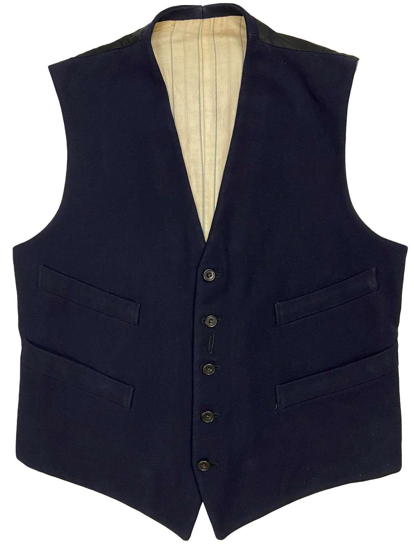 Original 1930s British Navy Blue Waistcoat
