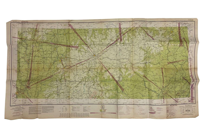 Original 1943 Dated USAAF / RAF Map of Tulsa