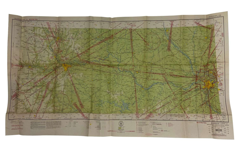 Original 1942 Dated USAAF / RAF Map of Kansas City