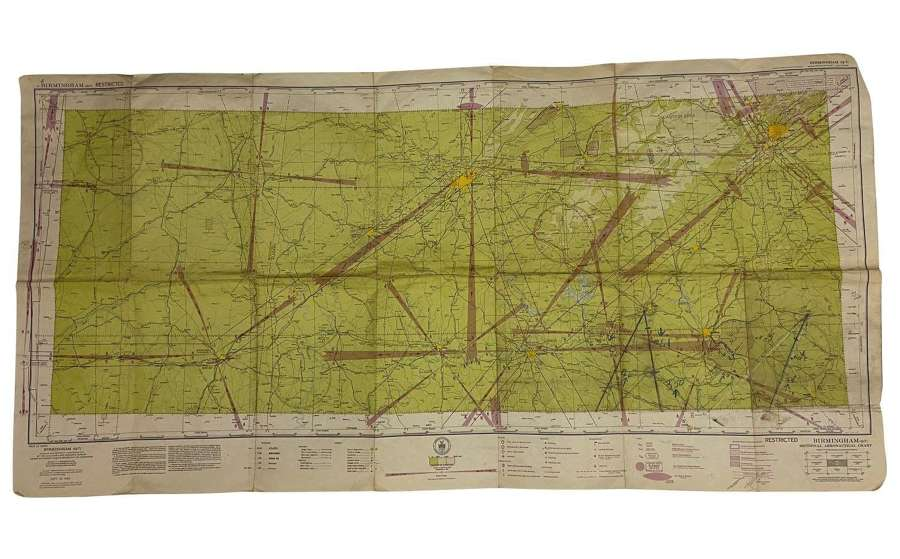 Original 1943 Dated USAAF / RAF Map of Birmingham