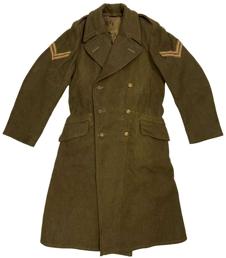 Original 1951 Dated 1940 Pattern Dismounted British Army Greatcoat
