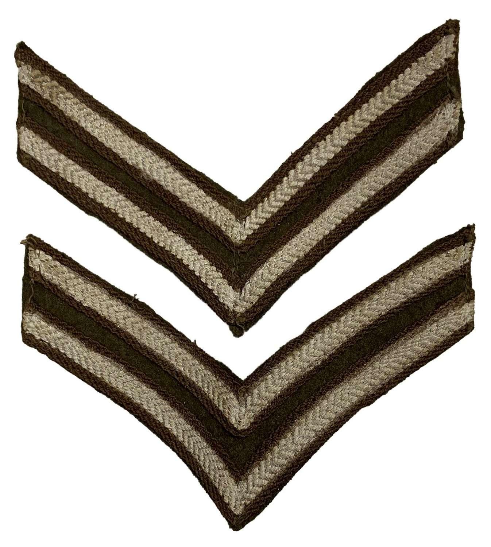 Original WW2 Period British Army Corporal Stripes