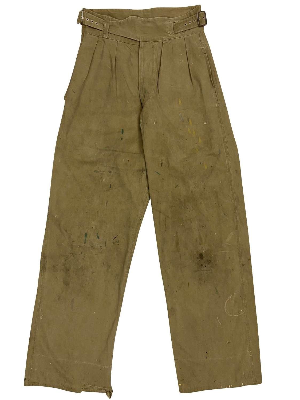 Original 1945 Dated British Army Khaki Drill Trousers
