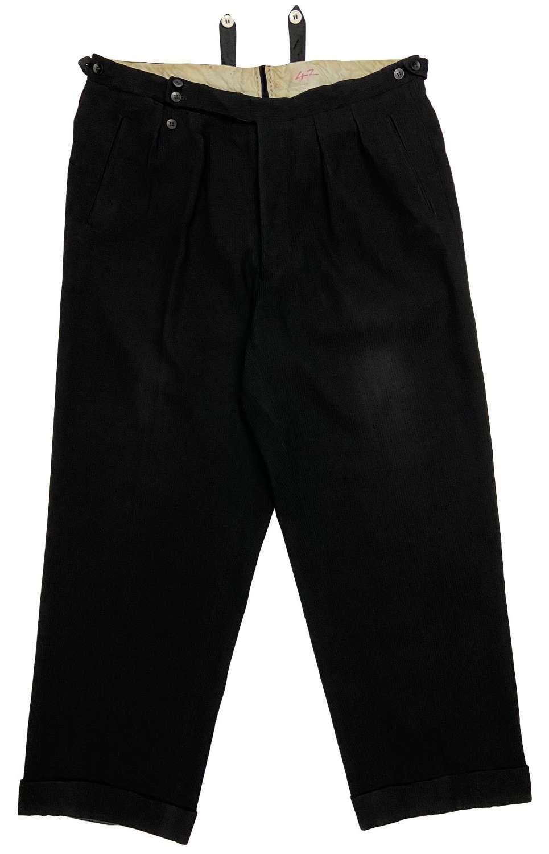 Original 1940s European Made Men's Trousers