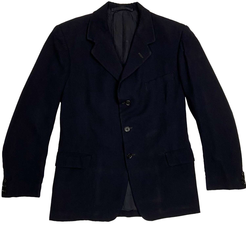 Original 1930s Men's Navy Blue Three Button Suit Jacket