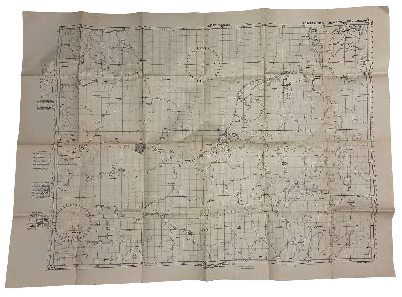 Original 1943 Dated USAAF / RAF Plotting Map - English Channel