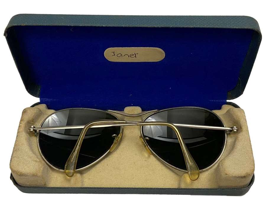 Original 1950s RAF Flying Spectacles MK 14 + Case - Sunglasses