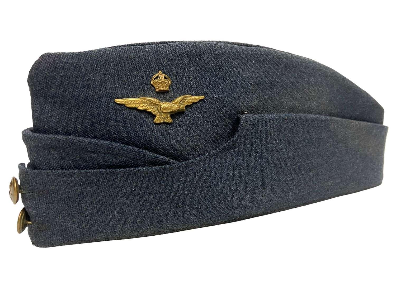 Original WW2 RAF Officers Field Service Cap - Size 7 1/4