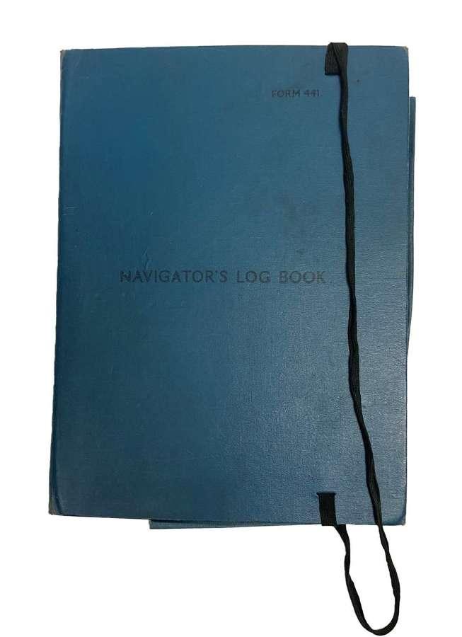 Original 1944 Dated Navigator's Log Book Form 441