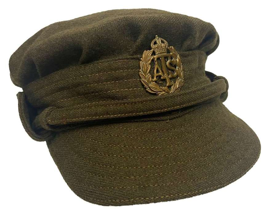 Scarce Original 1941 Dated First Pattern ATS Peaked Cap
