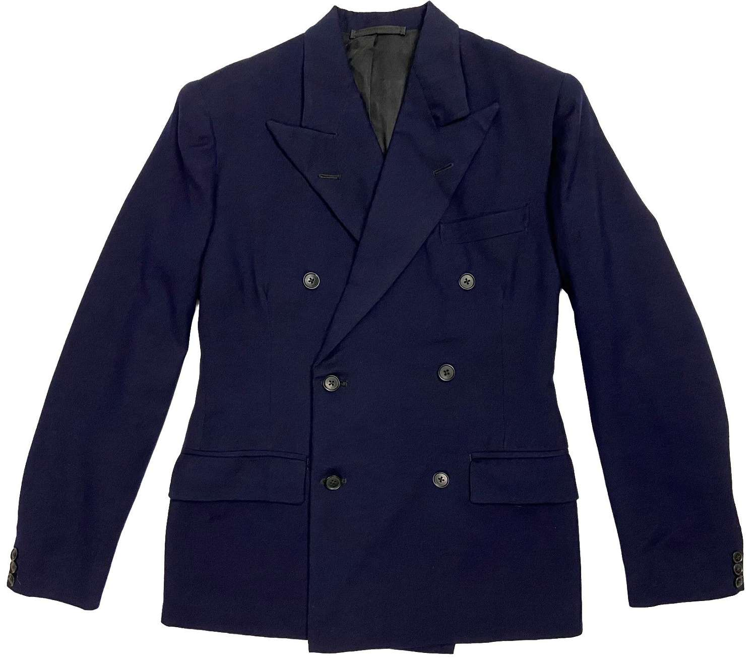 Original 1940s Men's Navy Blue Double Breasted Jacket