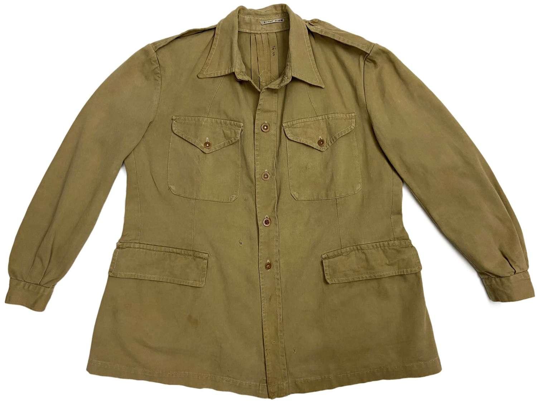 Original WW2 British Khaki Drill Bush Jacket - Large Size