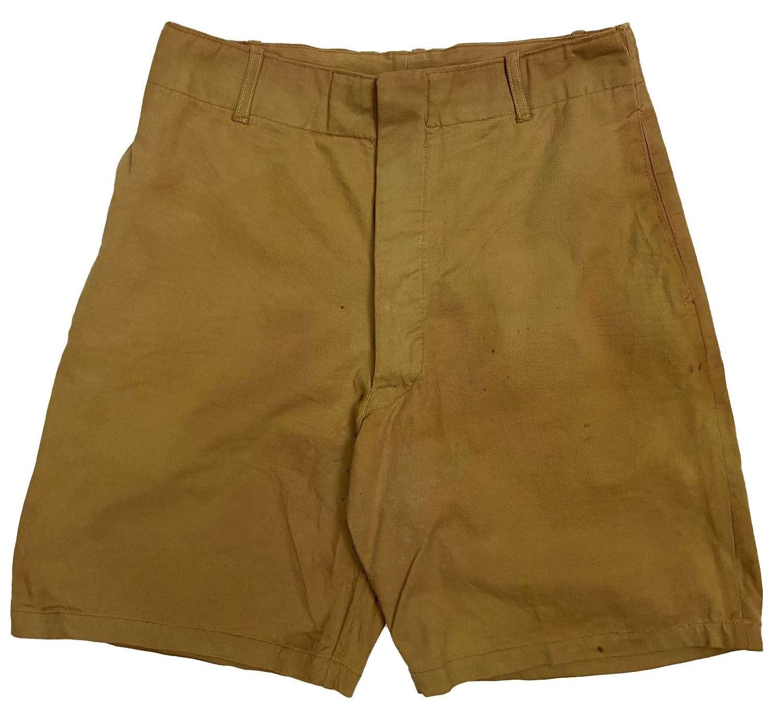 Original 1940s Khaki Drill Shorts