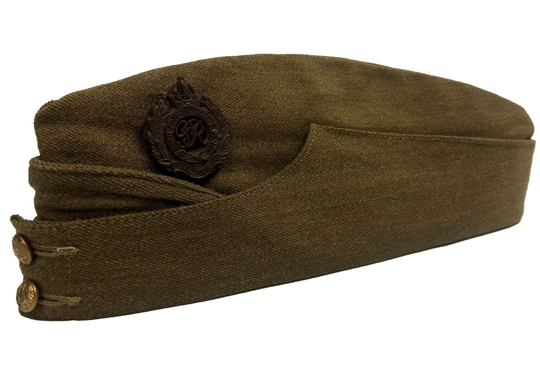 Original WW2 British Army Field Service Cap with Royal Engineers Badge