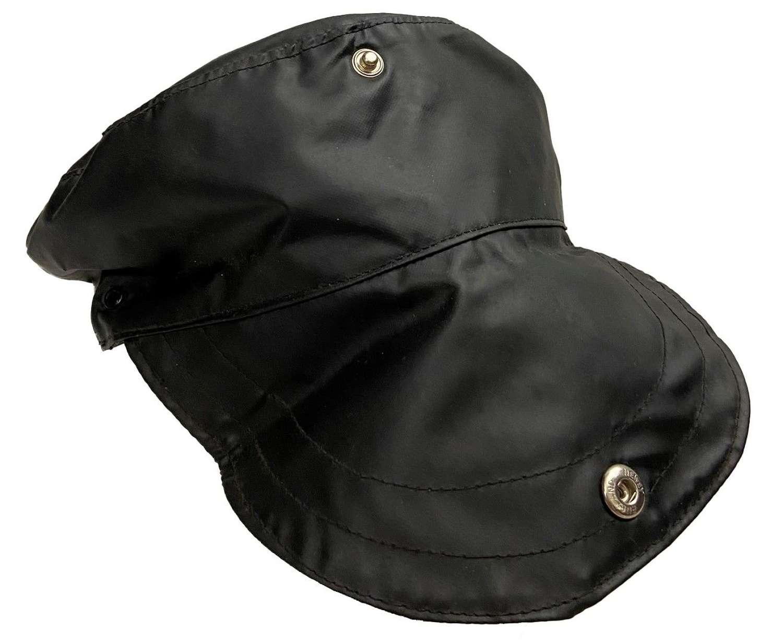 Original 1960s British Black PVC Workwear Cap