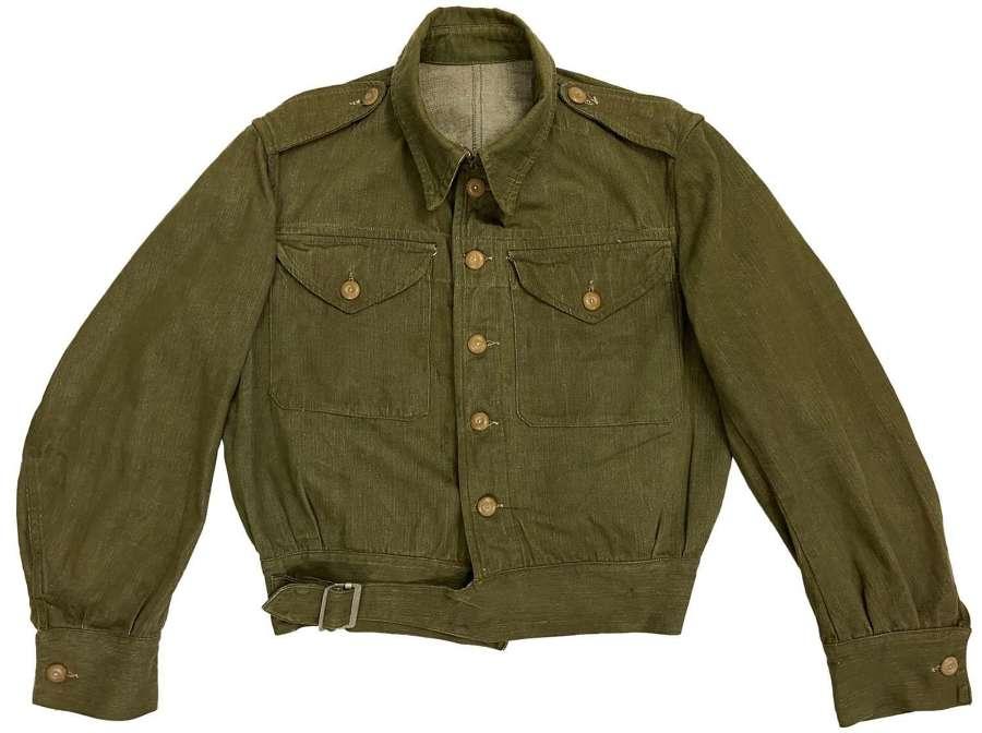 Original 1954 Dated British Denim Battledress Blouse - Size 7