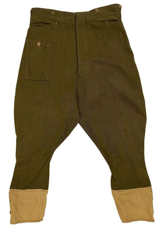 Original 1941 Dated British Army Dispatch Riders Breeches - Size 13