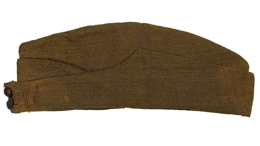 Original 1941 Dated British Army Field Service Cap - Size 6 7/8