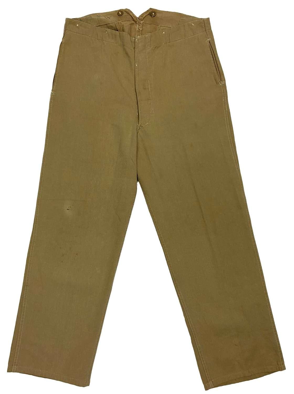 Original 1943 Dated RAF Khaki Drill Trousers