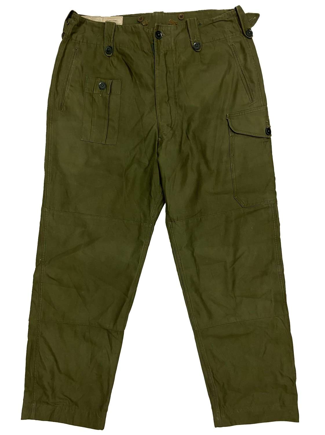 Original 1966 Dated British Army 1960 Pattern Combat Trousers - Size 6