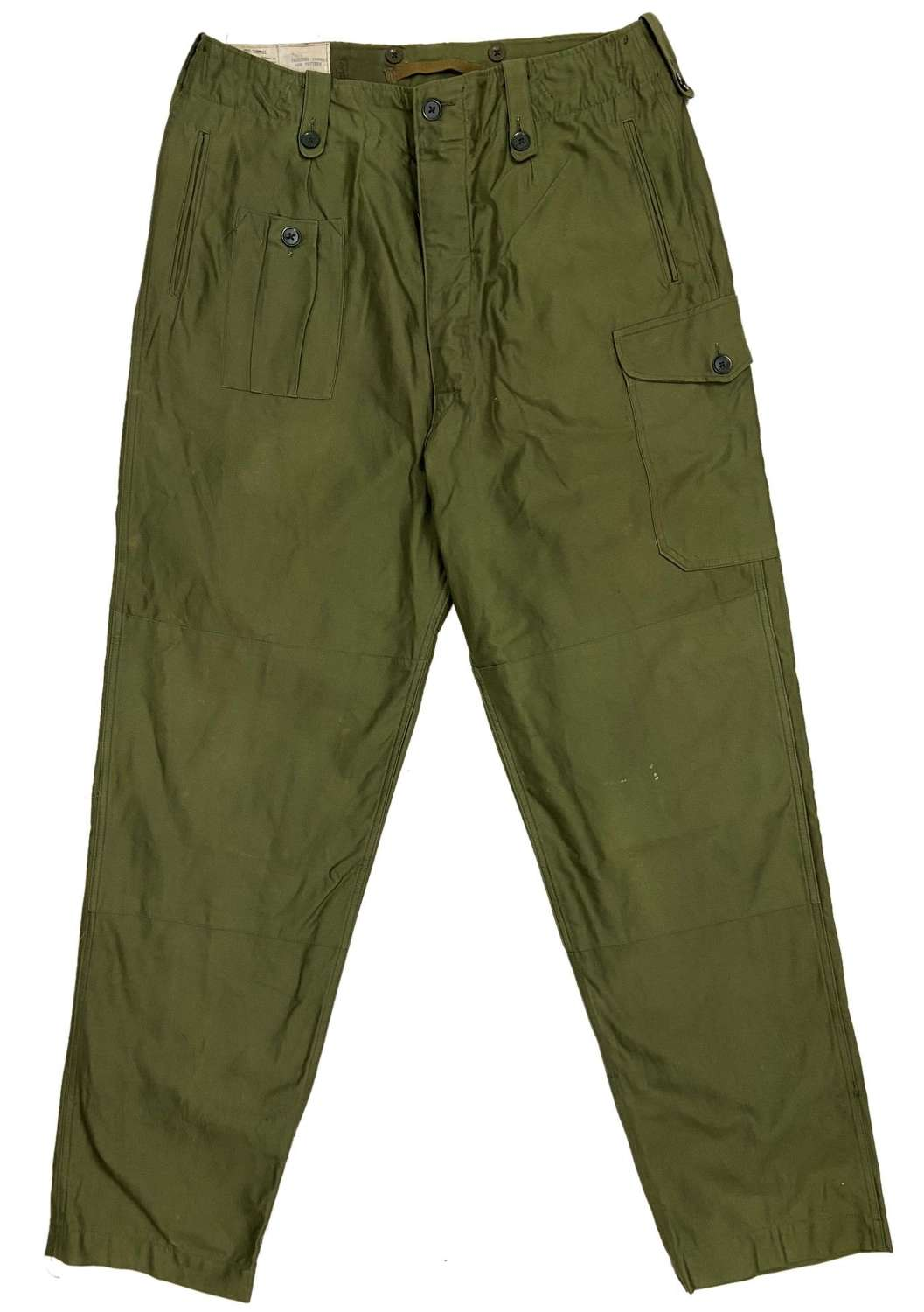 Original 1963 Dated 1960 Pattern Combat Trousers - Size 9