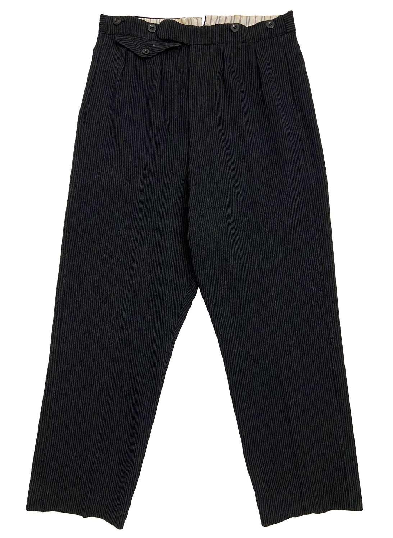 Original 1940s British Pinstripe Trousers - Size 31x27