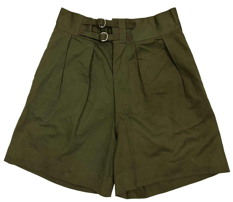 Original 1946 Dated Indian Made British Jungle Green Shorts