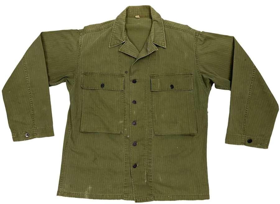 Original WW2 US Army Second Pattern HBT Jacket - Size 38R